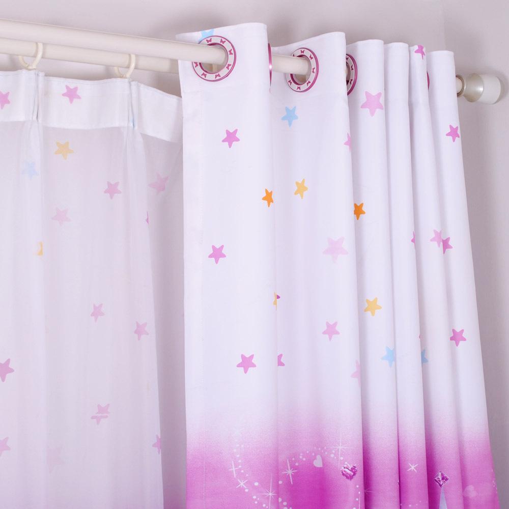 Дизайн штор для детской комнаты со звездами