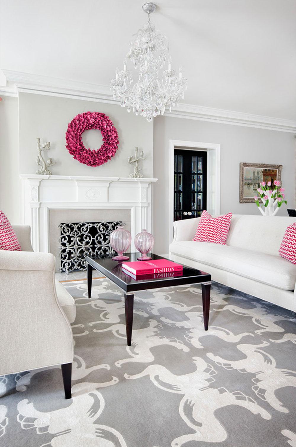 Розовые акценты в интерьере