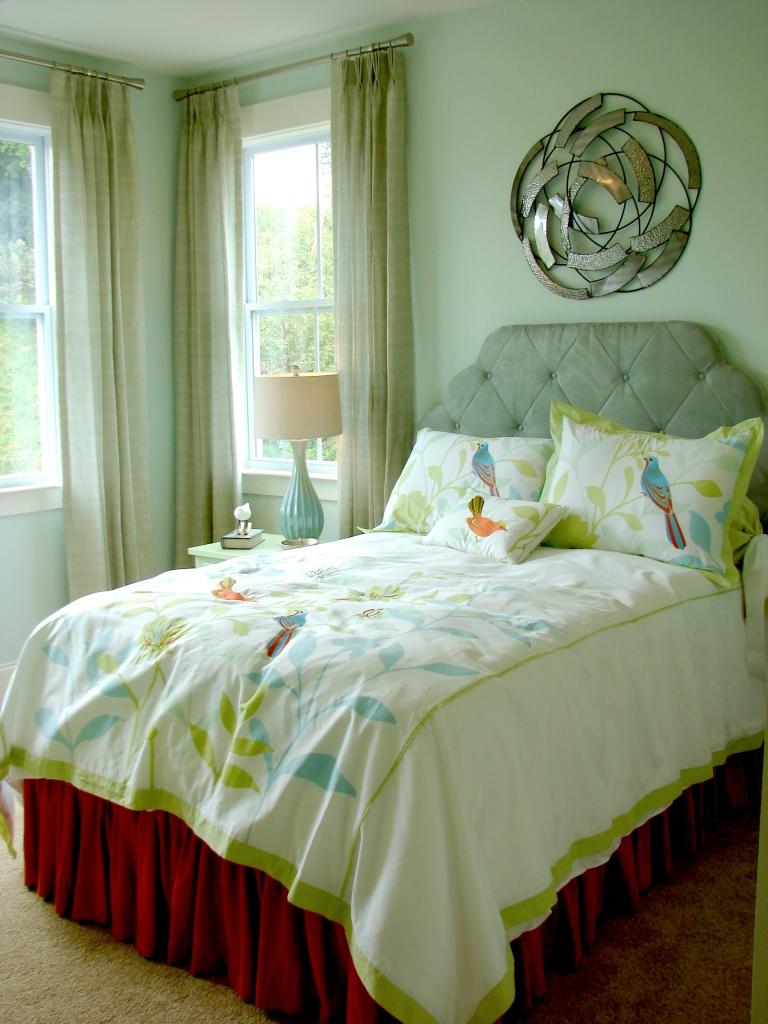 Оливковый цвет в интерьере в американском стиле
