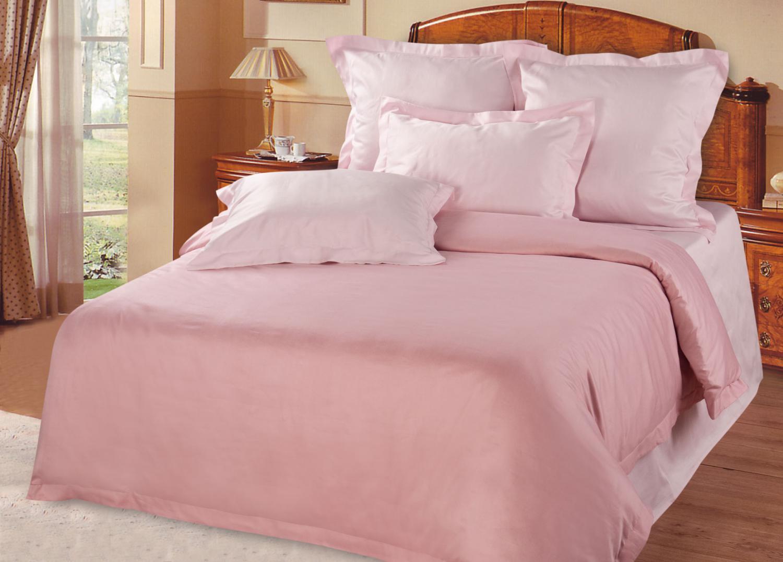 Розовое постельное белье из бамбука