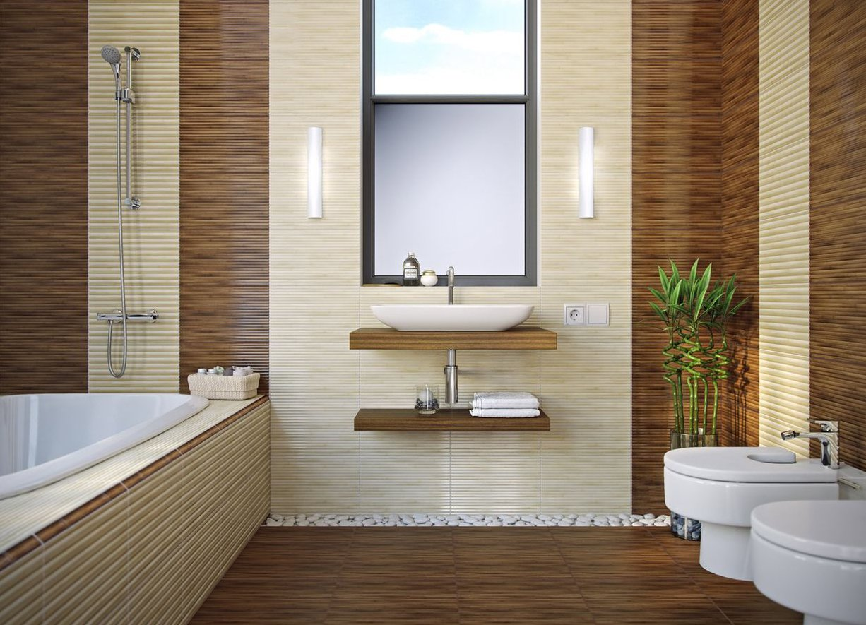 Живой бамбук для украшения ванной