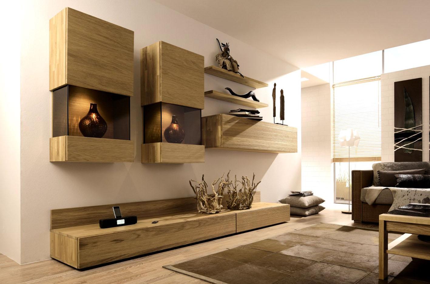 Стенка в гостиную деревянная