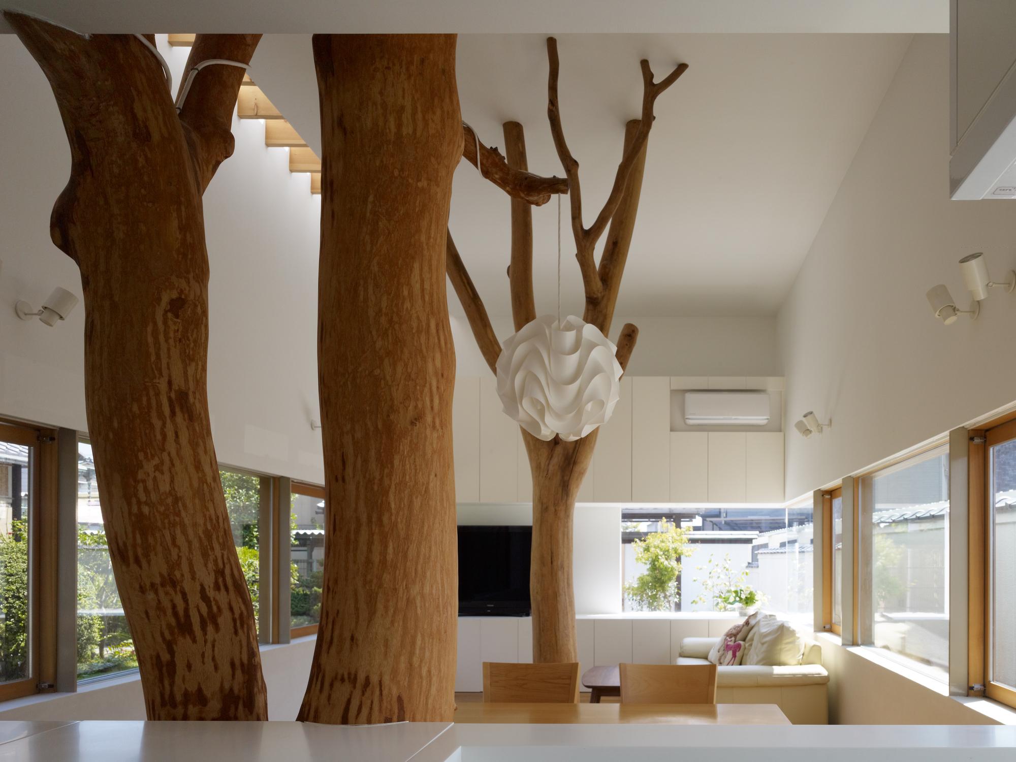 Современный дизайн помещения с натуральным деревом