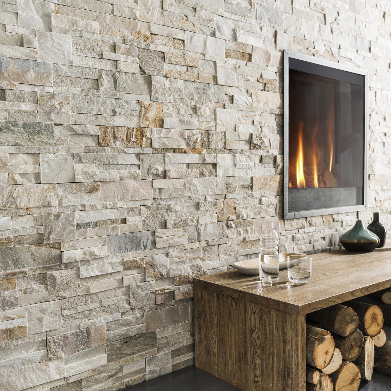 Отделка стен декоративным камнем диким