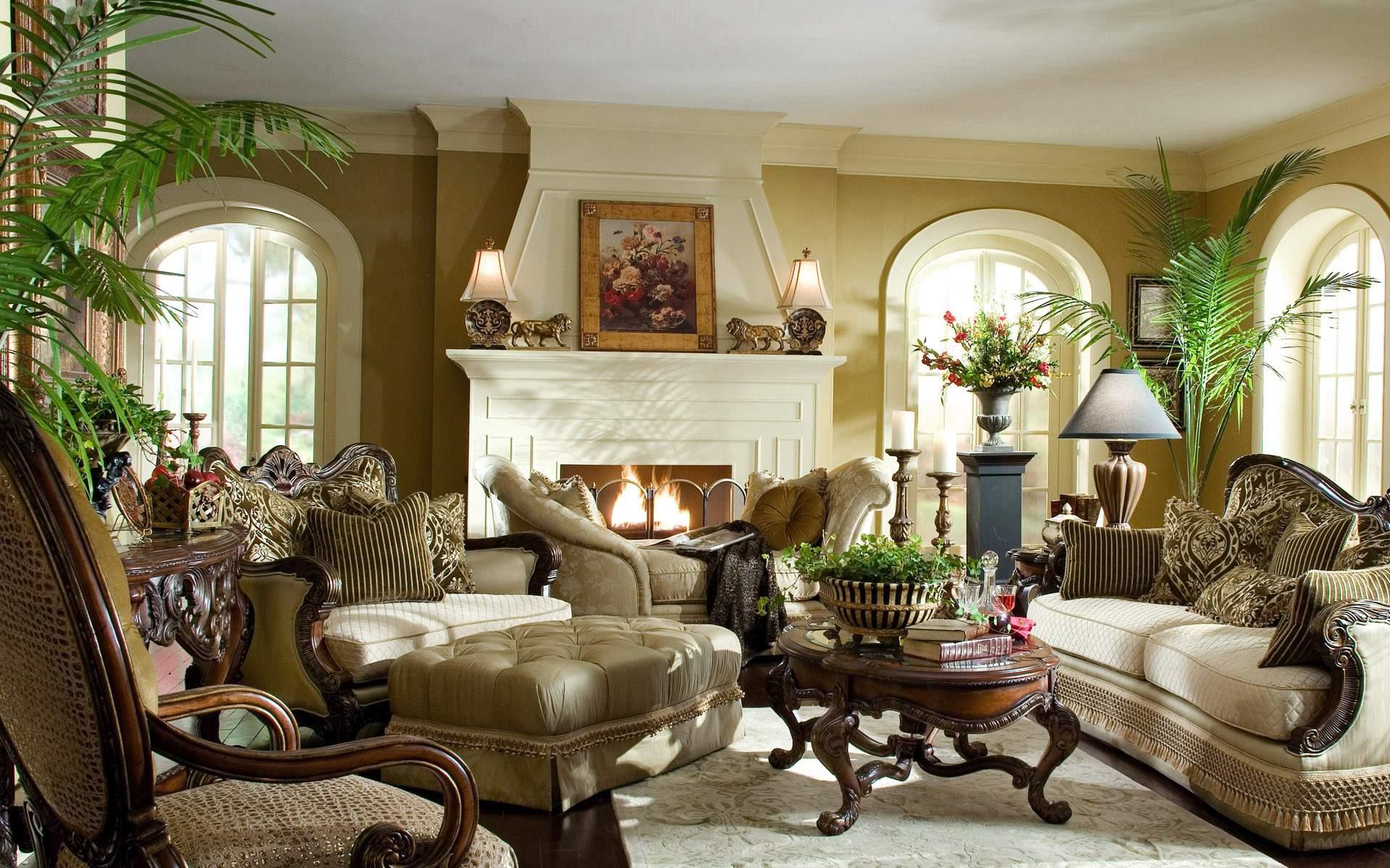 Оливковый цвет в интерьере дома