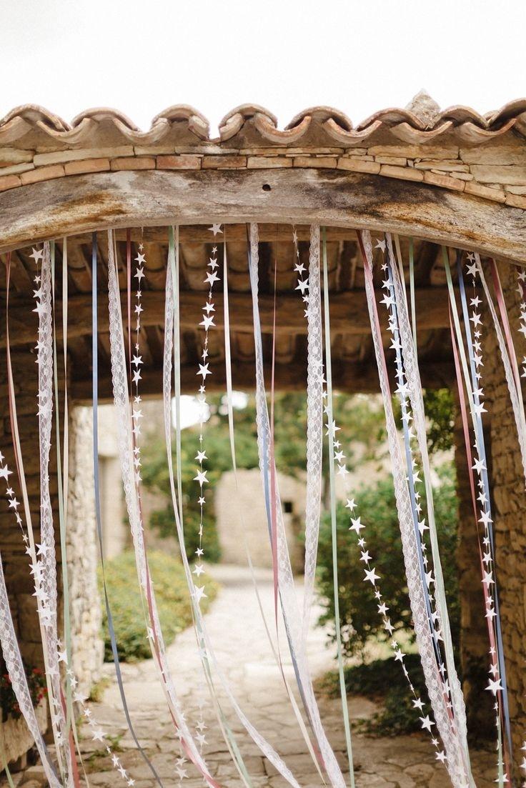 Красивые ленты для украшения деревенского интерьера