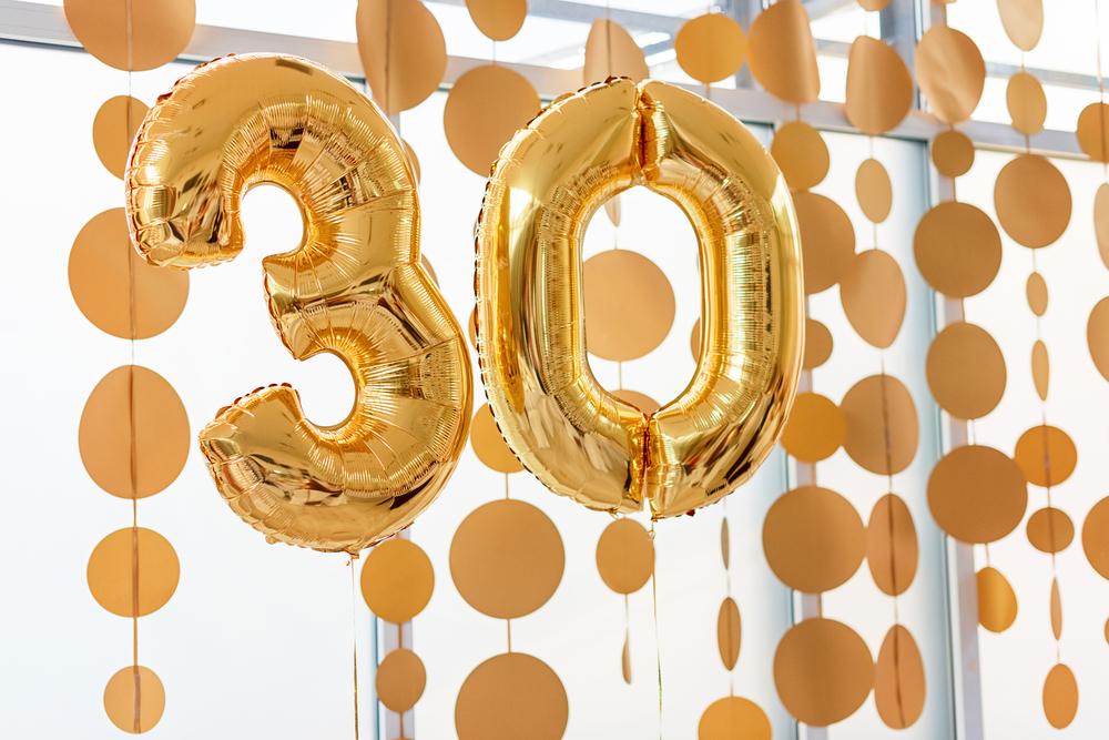 Воздушные шары на 30 летие