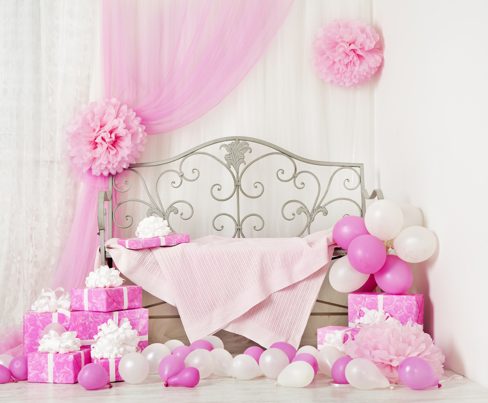 Комната девочки на день рождения