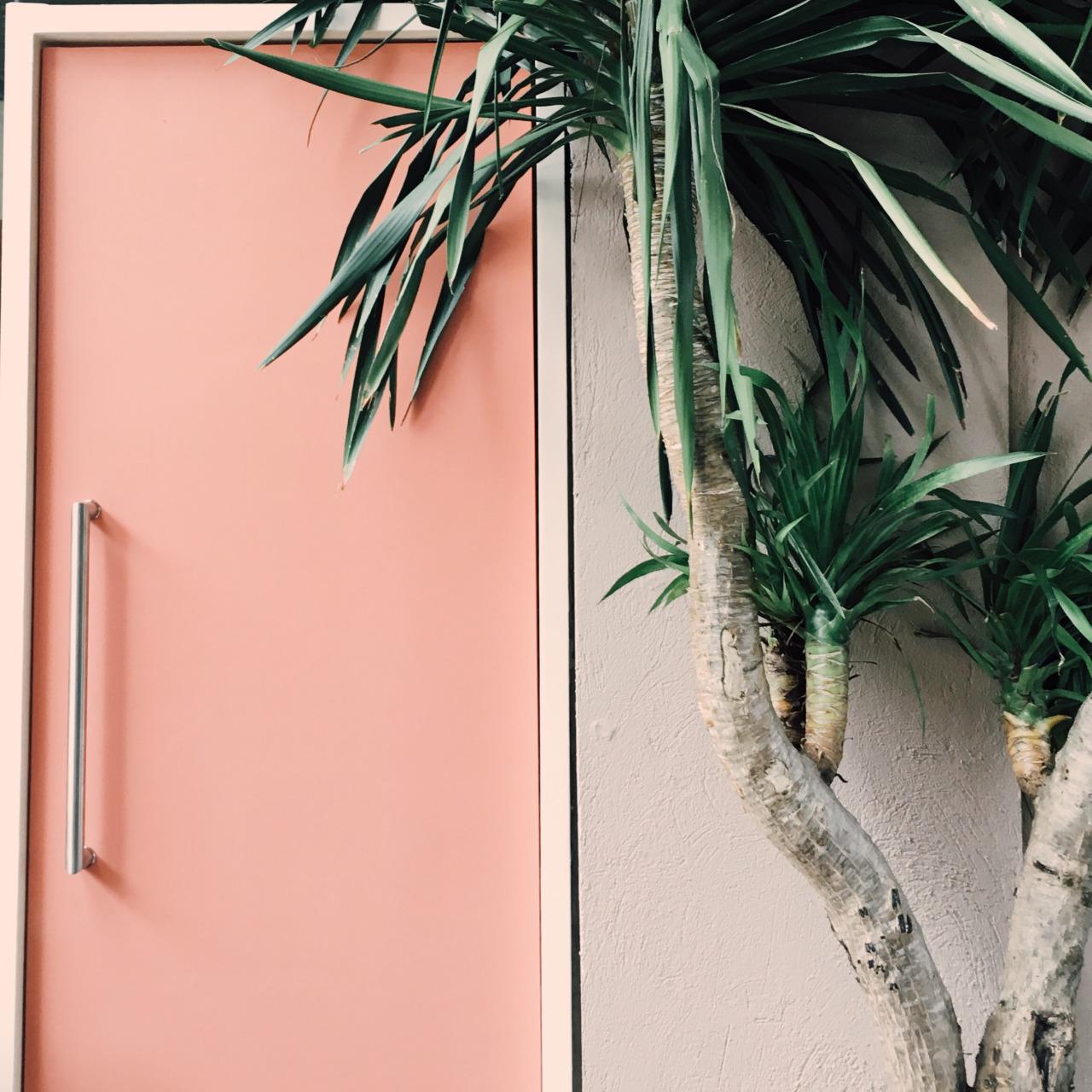 Дверь персикового цвета