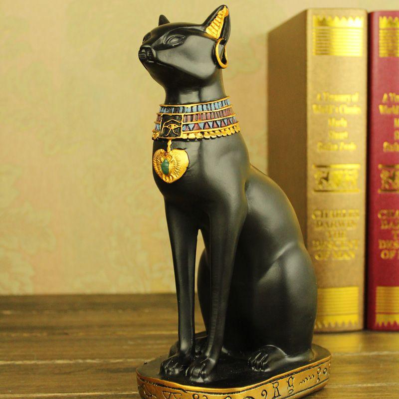 Статуэтка кошки в египетском стиле для украшения интерьера