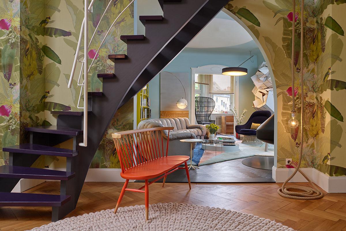 Двухуровневая квартира в эклектичном стиле