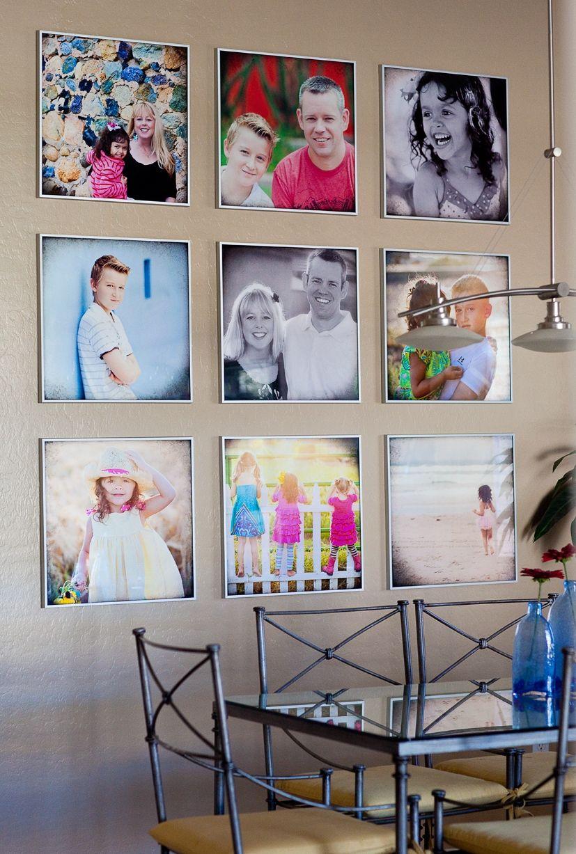 Вариант размещения фотографий на стене