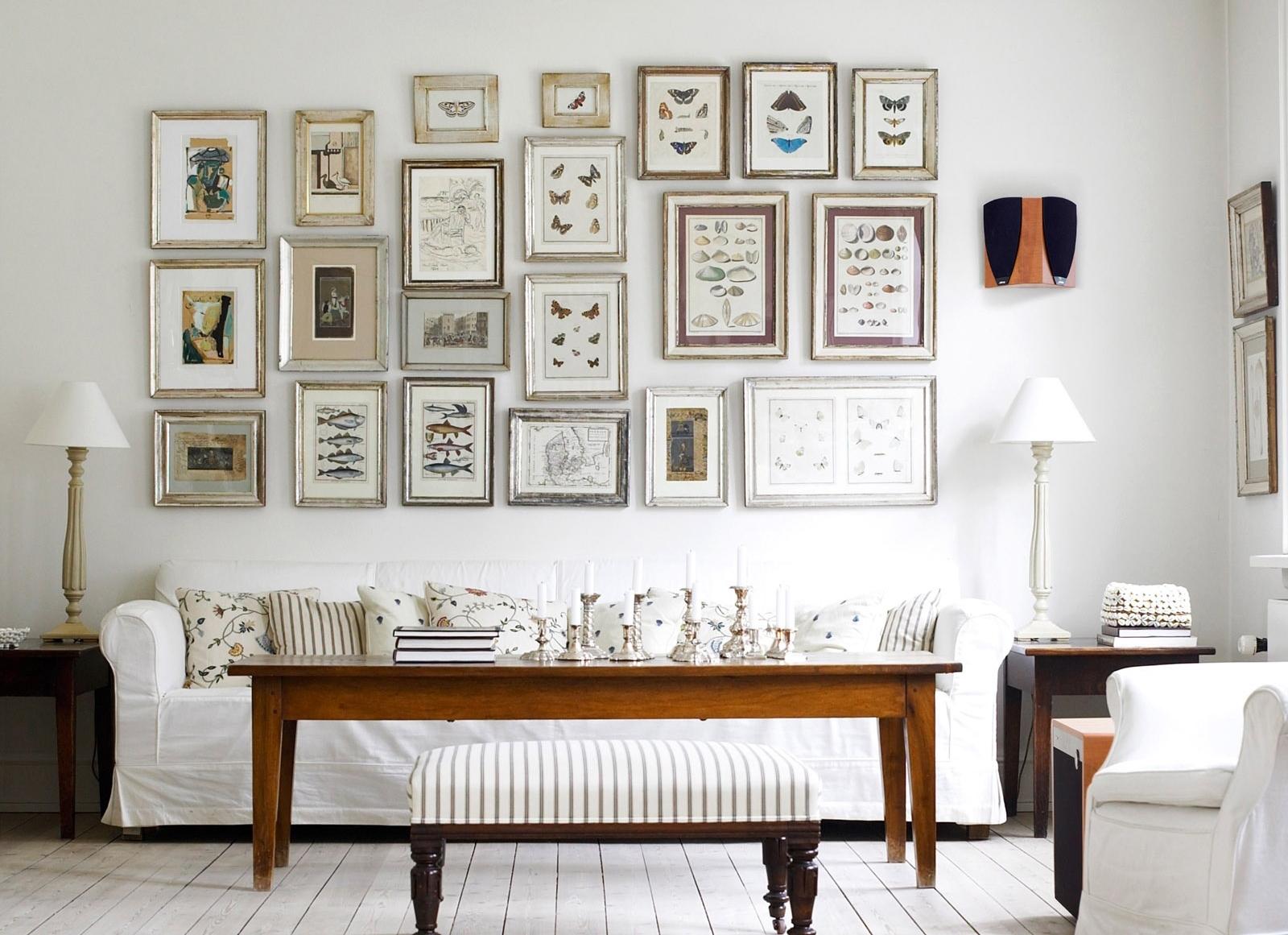 Удачное расположение изображений на стене