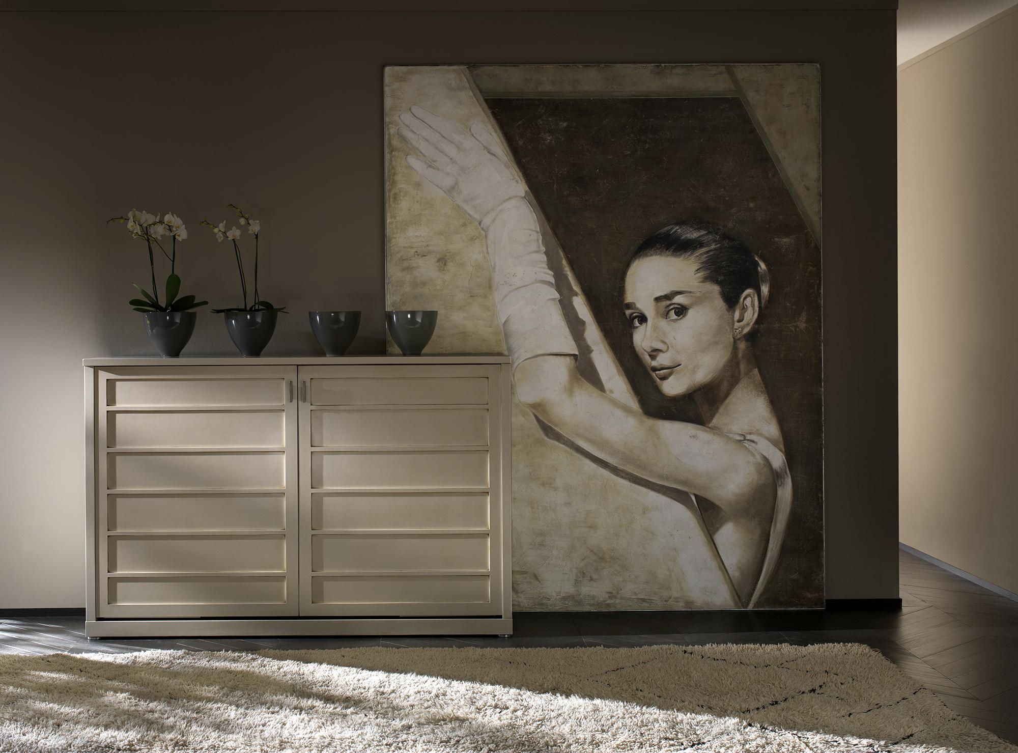Фреска на холсте в гостиной