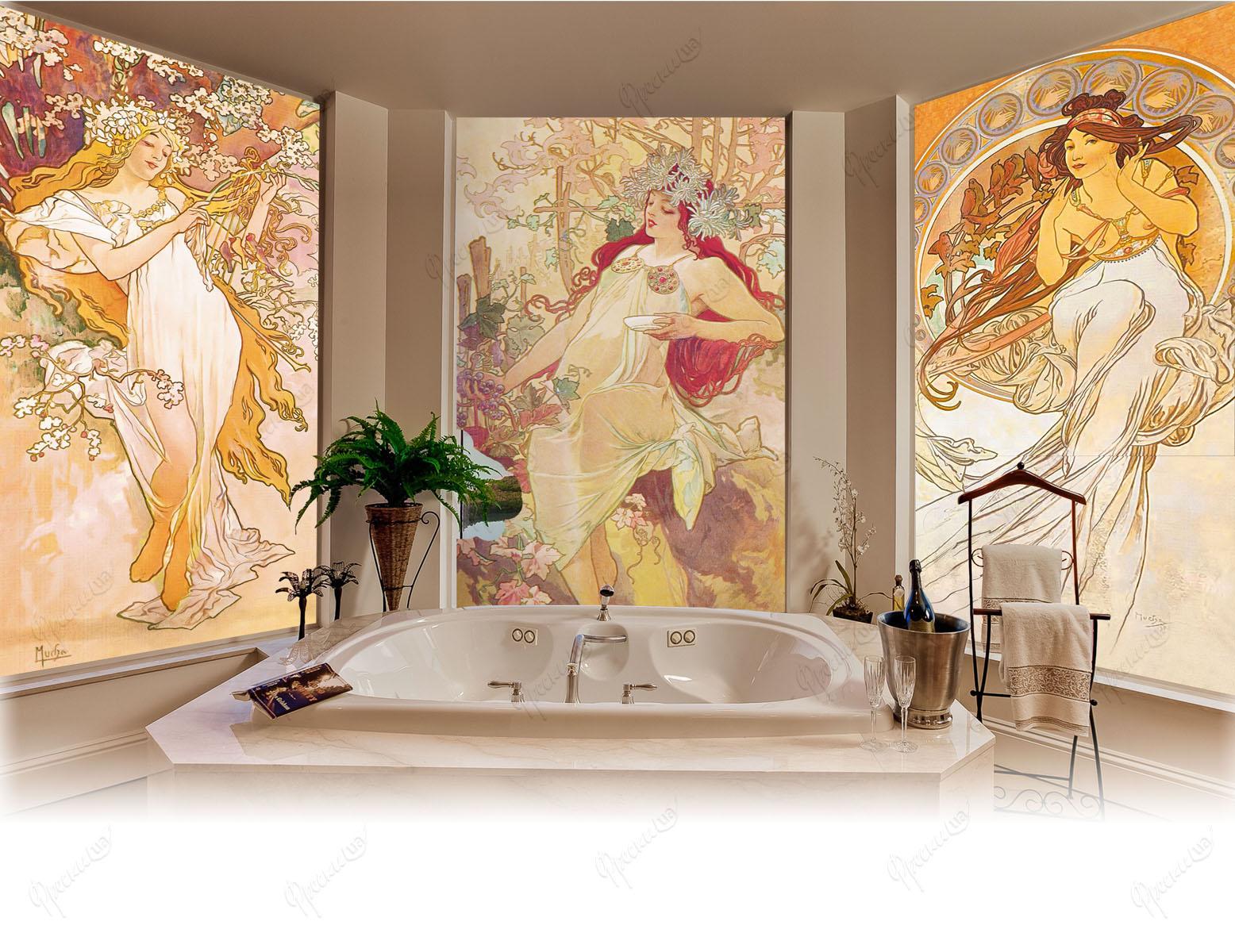 Три фрески в ванной комнате