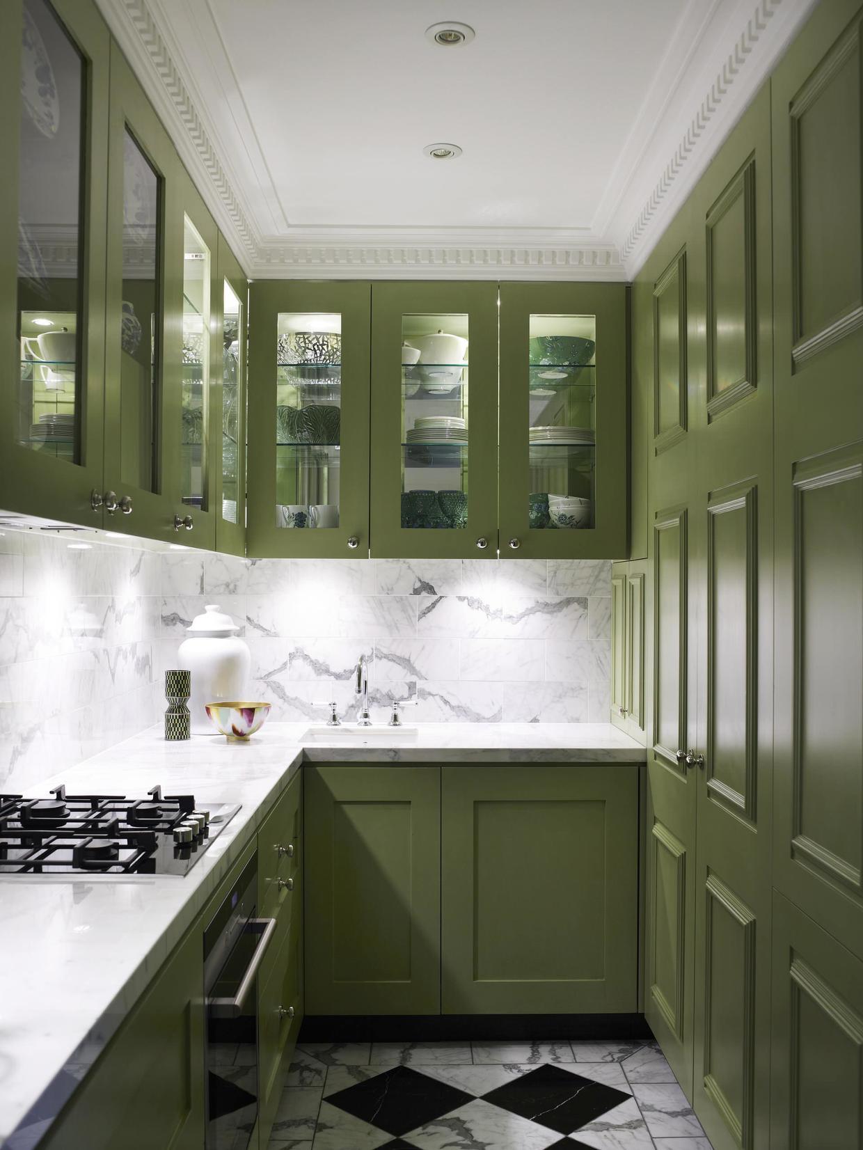 Оливковый кухонный гарнитур