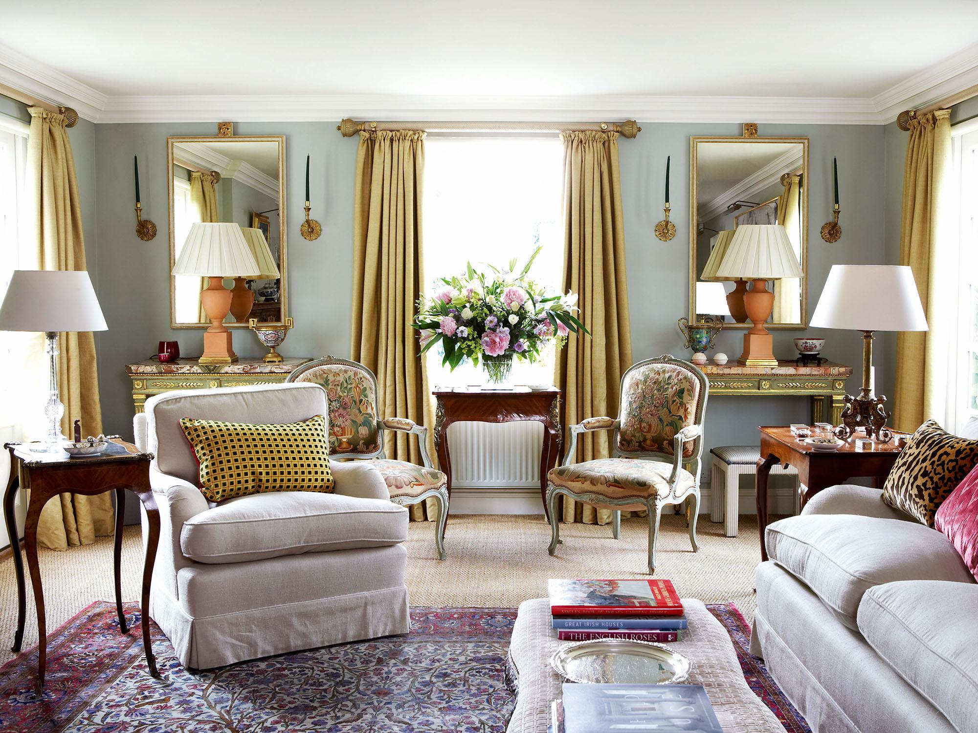 Красивая гостиная в стиле прованс