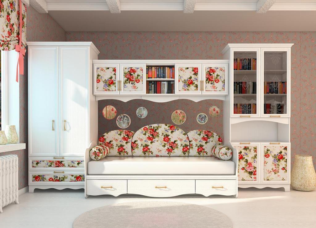 Красивая мебель для гостиной в стиле прованс