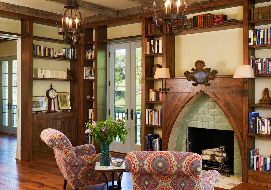 Гостиная с элементами готического стиля
