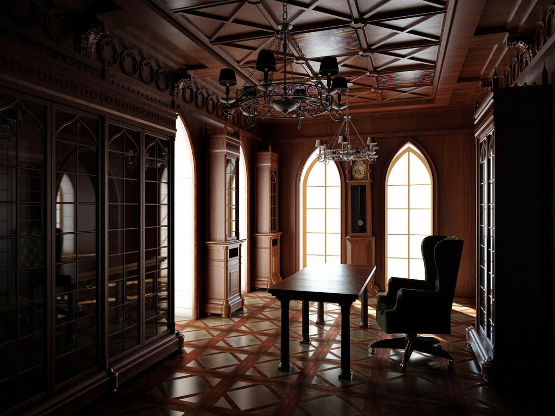 Кабинет в готическом стиле