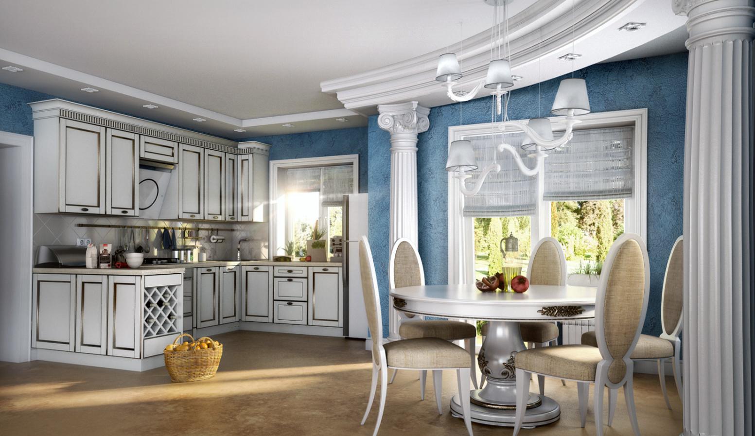 Классическая кухня в греческом стиле