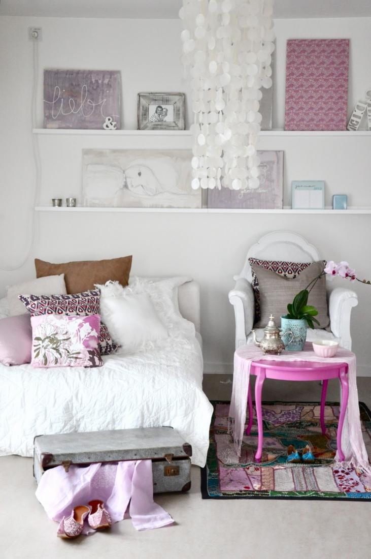 Украшение спальни в индийском стиле