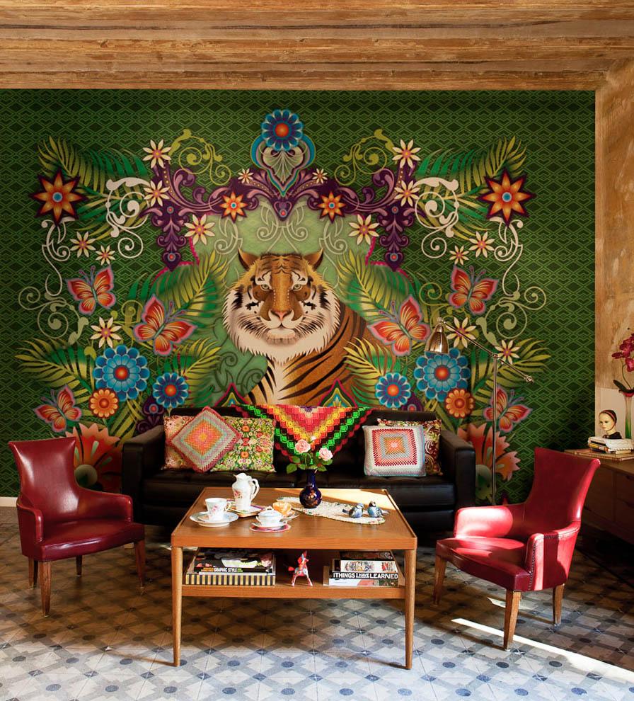 Стильная мебель в индийской гостиной