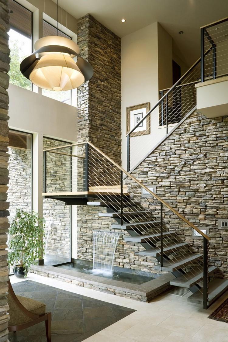 Отделка стен декоративным камнем в интерьере