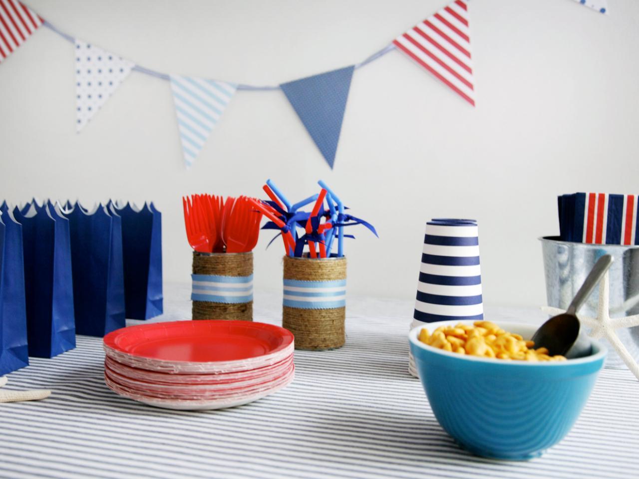 Украшение стола для детского дня рождения