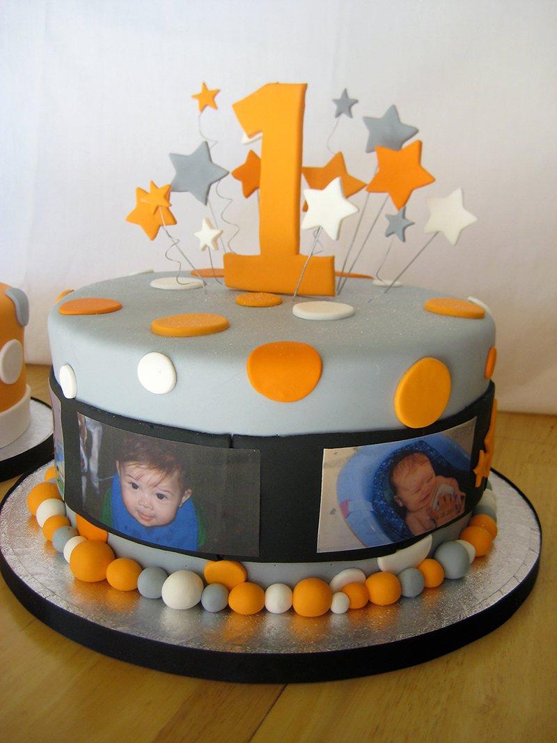 Праздничный торт для первого дня рождения