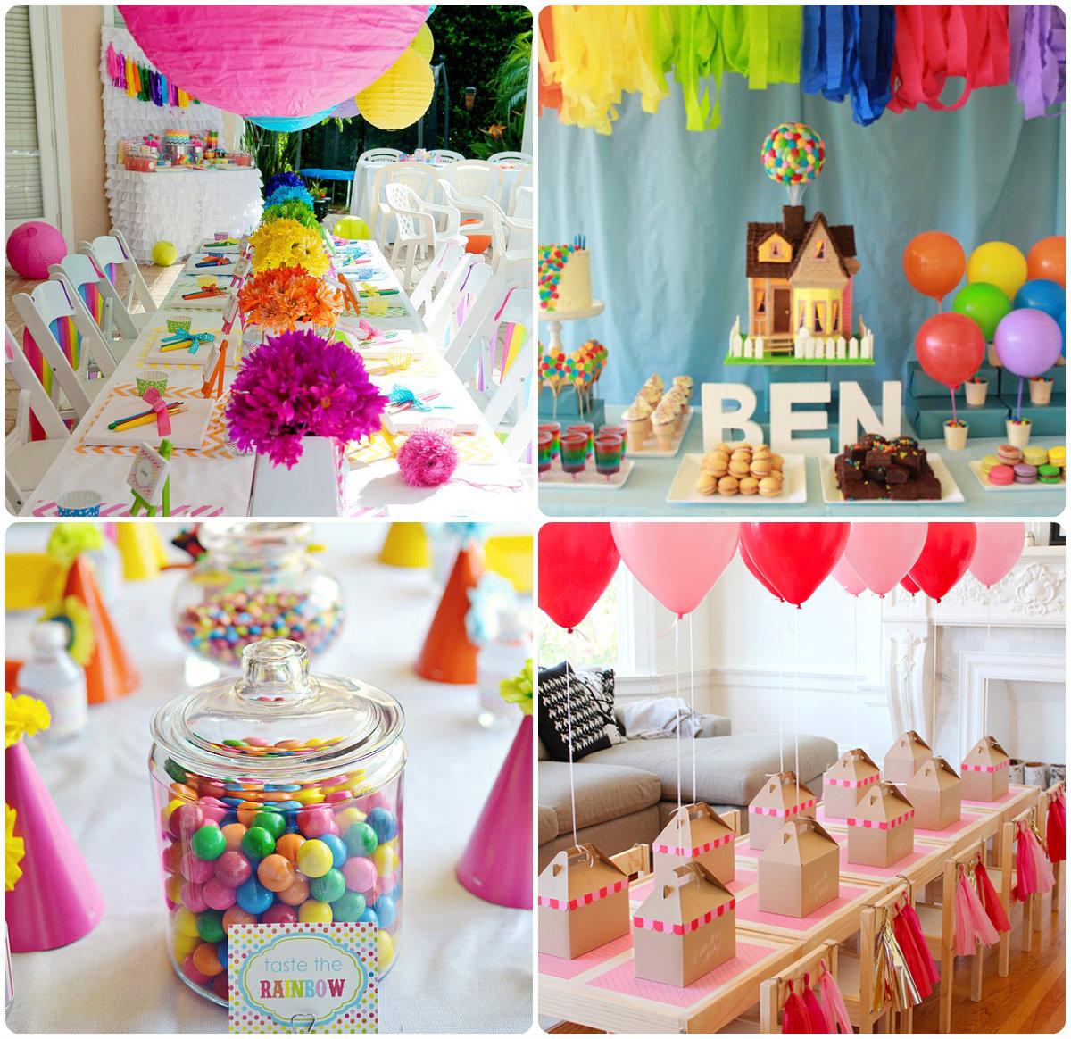 Варианты ярких украшений для дня рождения