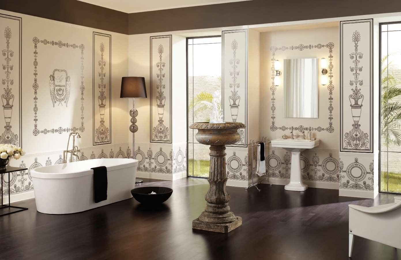 Римский стиль в интерьере ванной