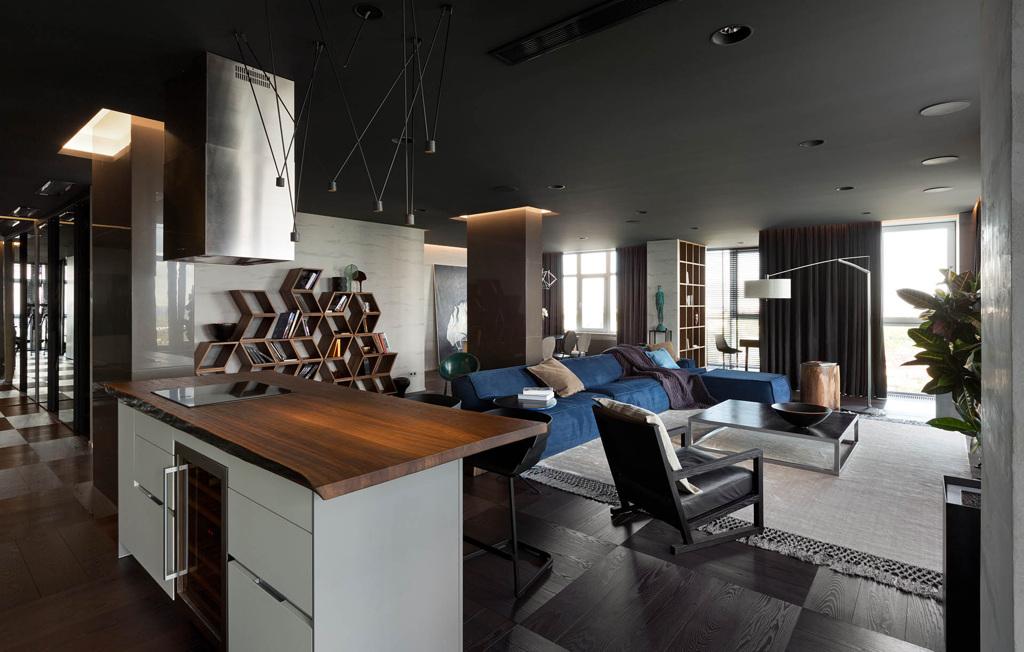 Квартира-студия в стиле конструктивизм