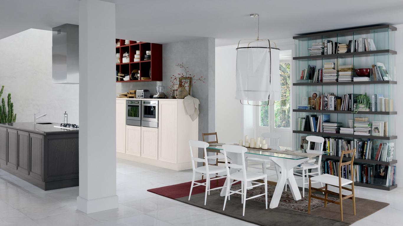 Кухня-столовая в стиле конструктивизм