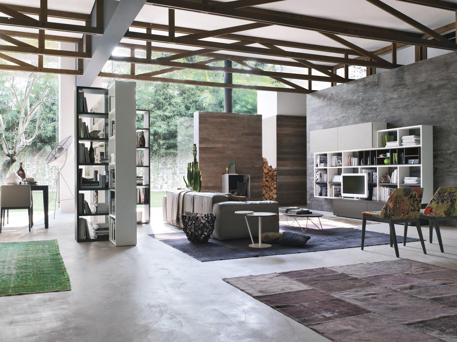 Коричнево-серый интерьер в стиле конструктивизм
