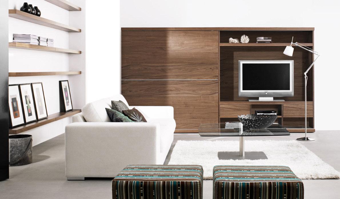 Стенка в гостиную коричневая
