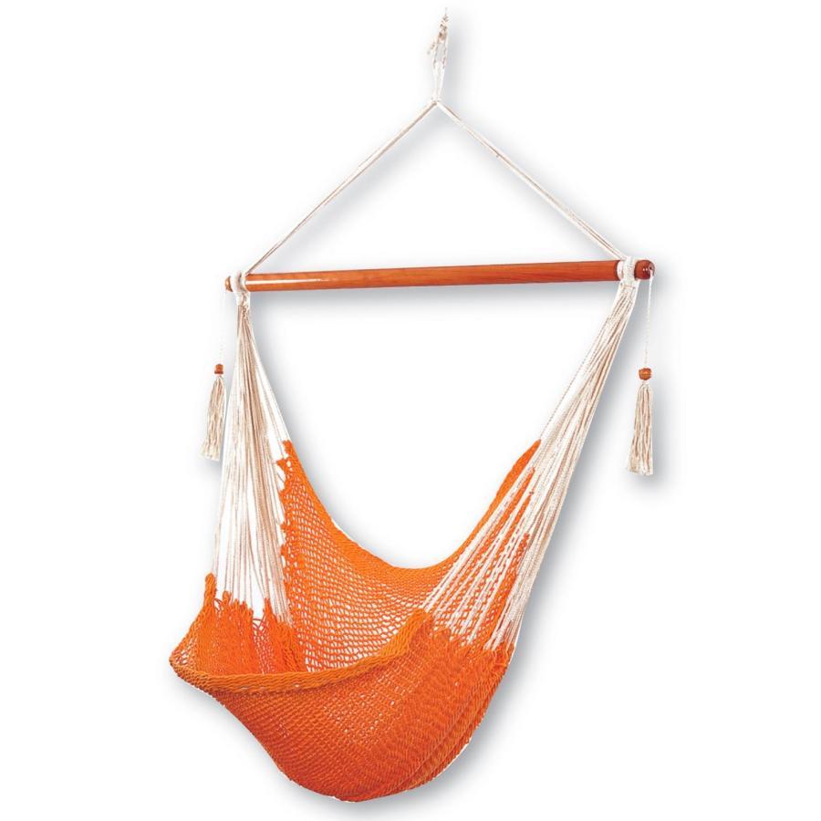 Бело-оранжевое кресло гамак