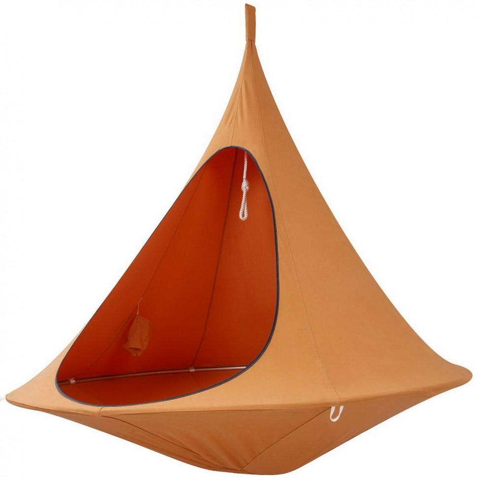 Необычное оранжевое кресло гамак
