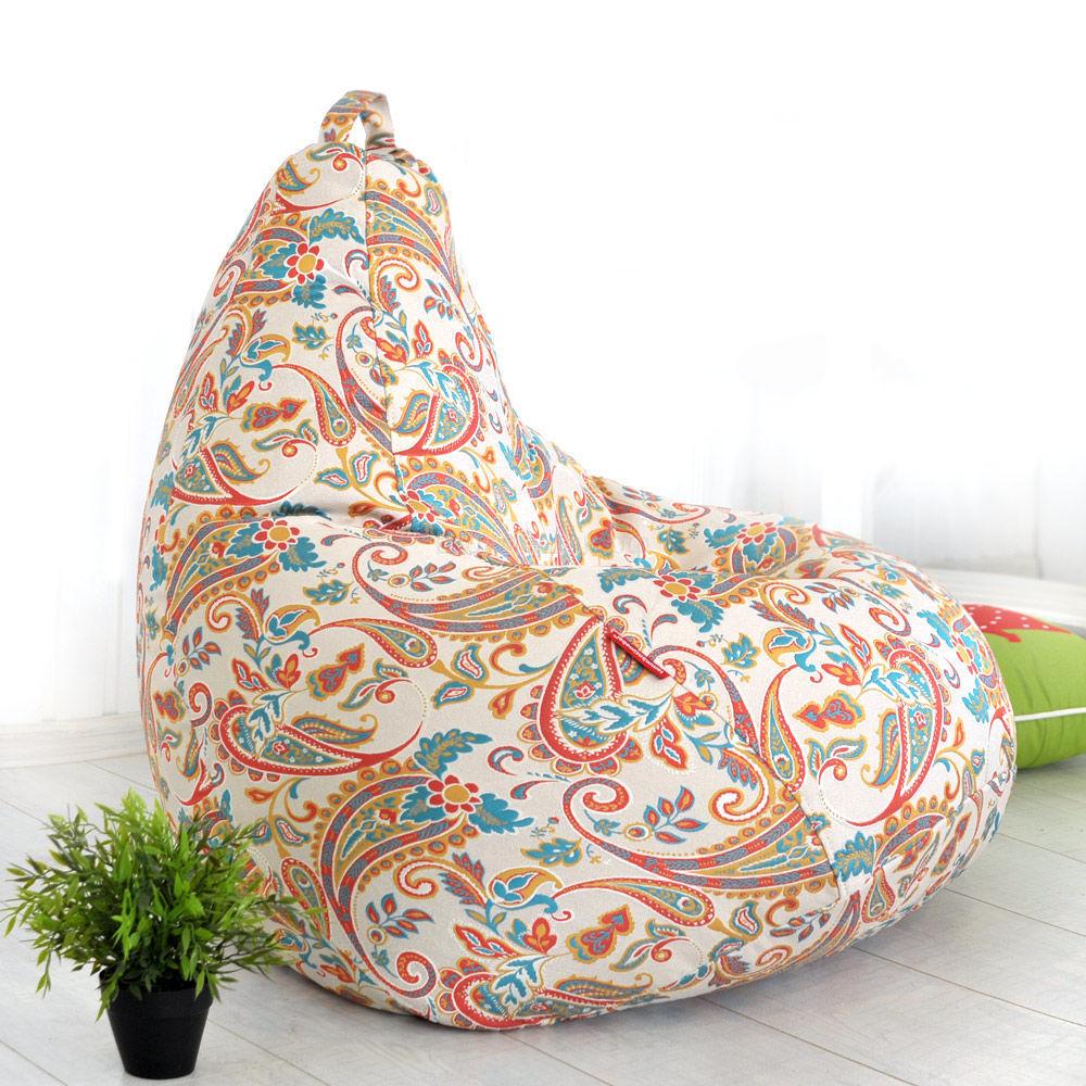 Кресло мешок с ярким принтом