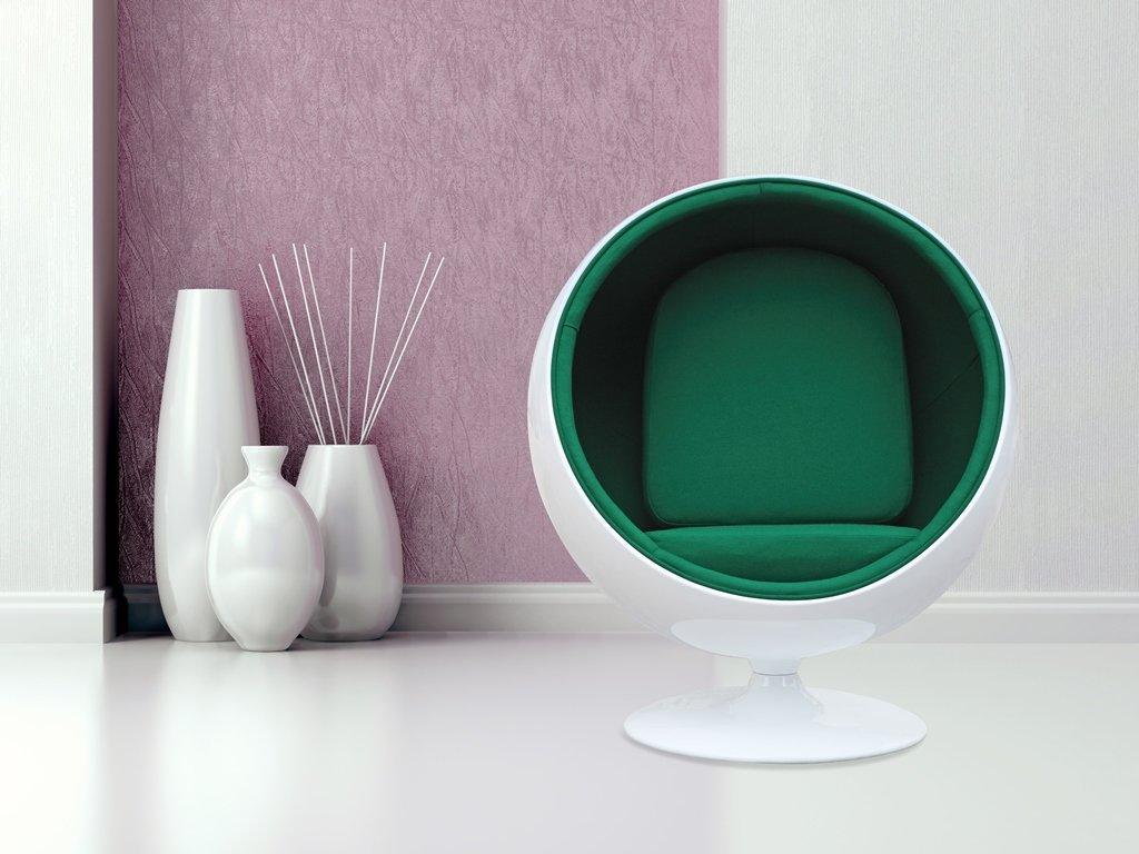 Круглое стильное кресло для гостиной