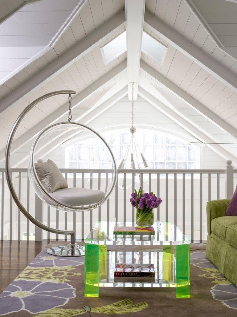 Стеклянное подвесное кресло
