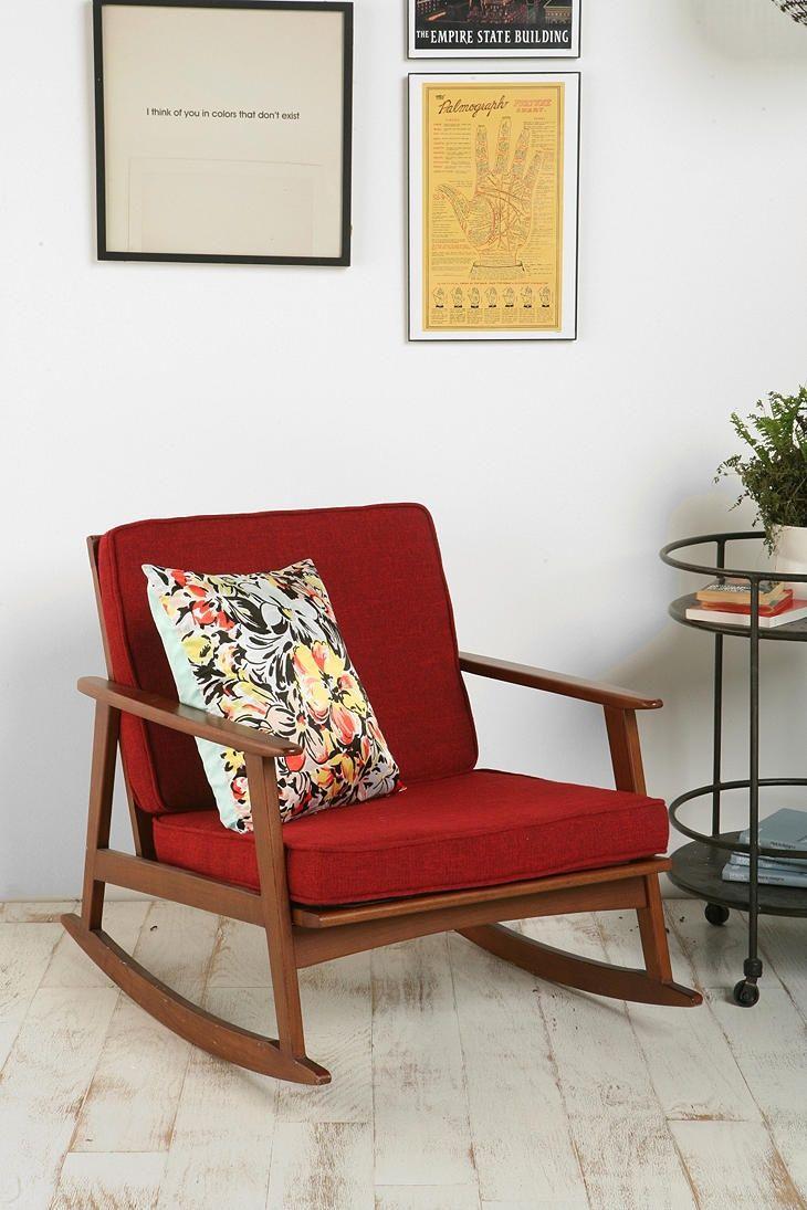 Коричнево-красное кресло качалка