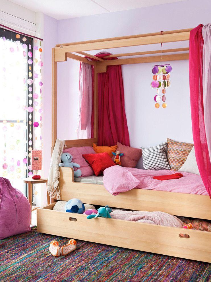 Детская кровать с большим ящиком