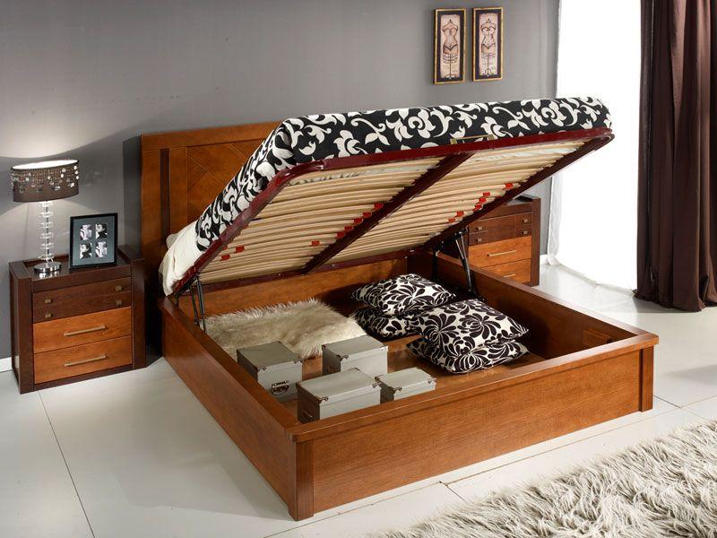 Кровать с подъемным механизмом и местом для хранения