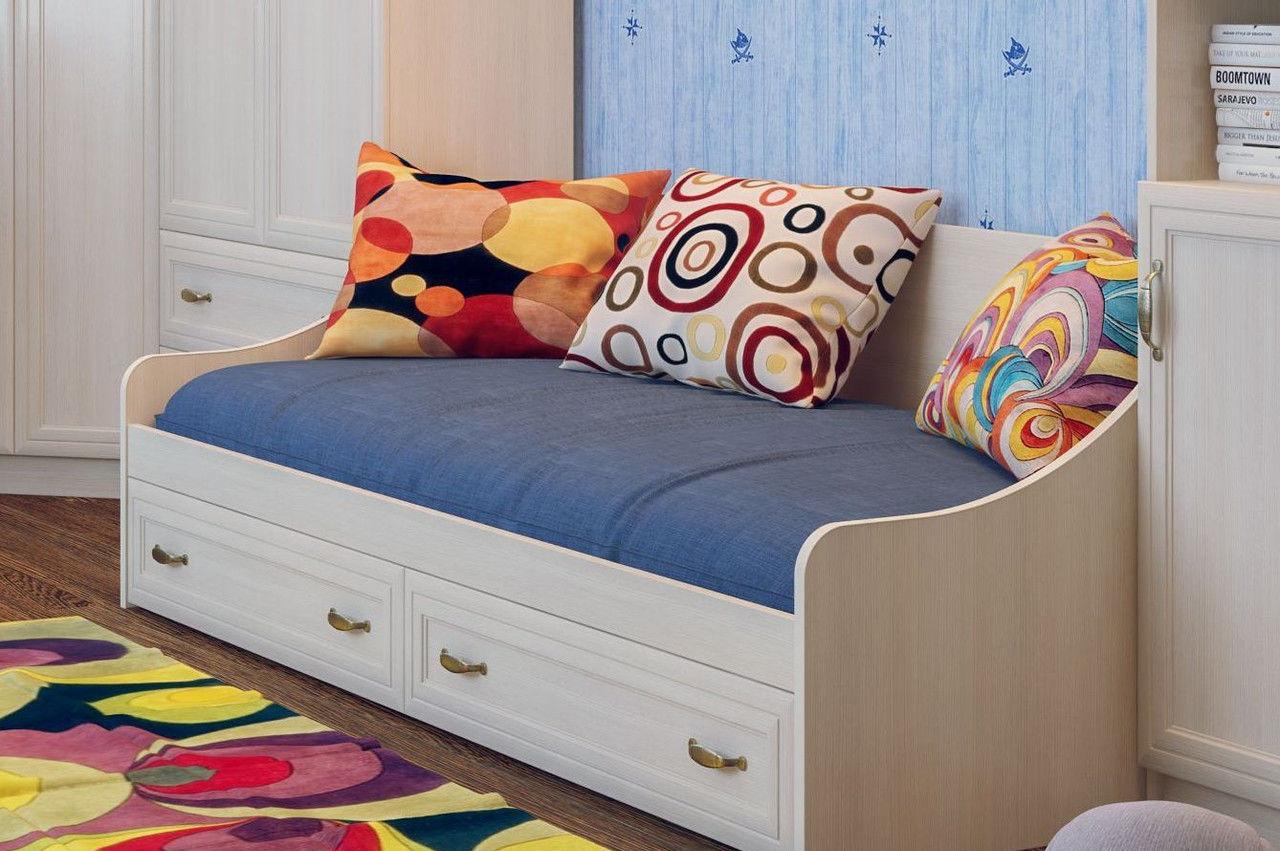 Детский диван-кровать с ящиками