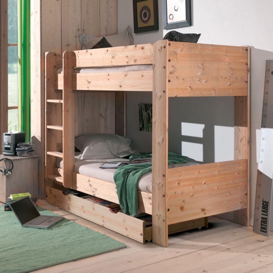 Двухуровневая кровать с ящиком в детскую
