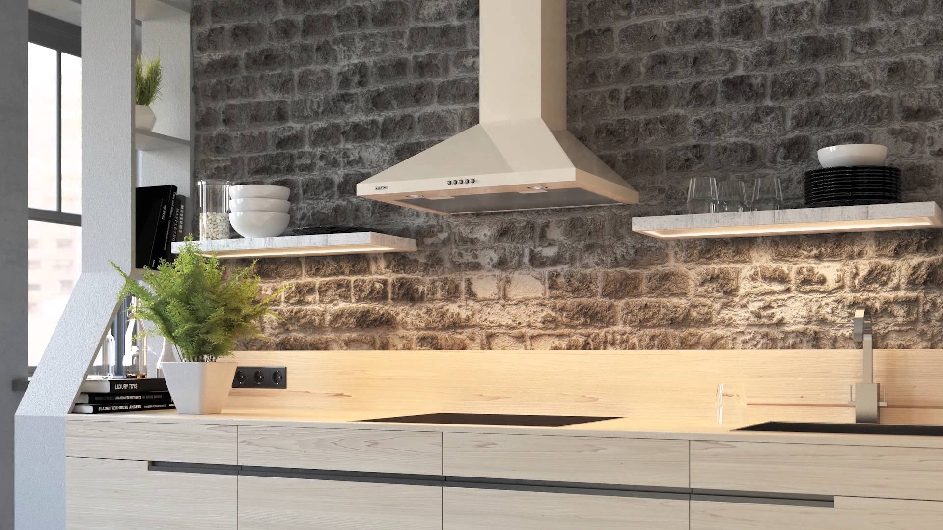 Купольная вытяжка на современной кухне