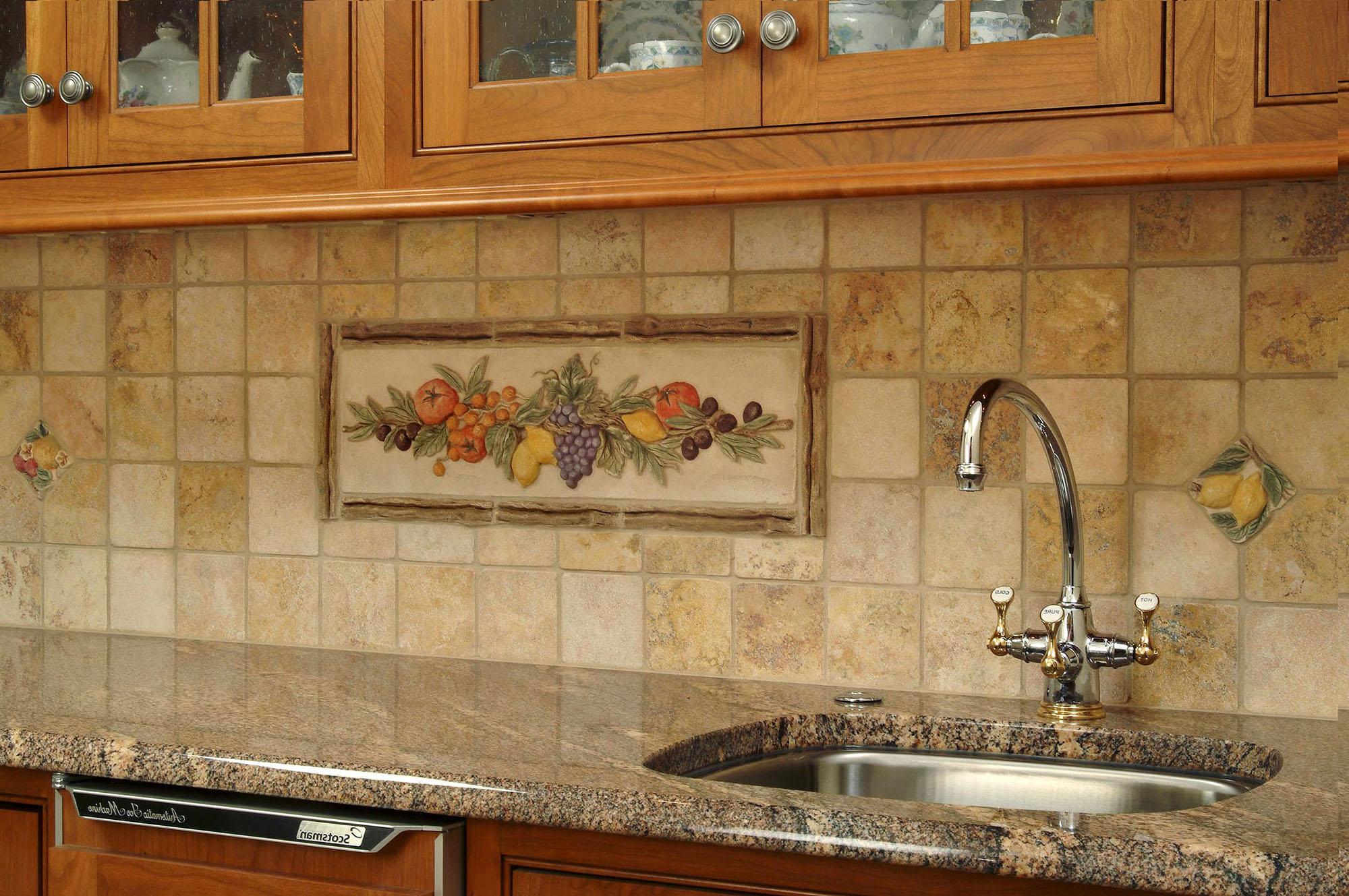 Кухонный фартук с панно