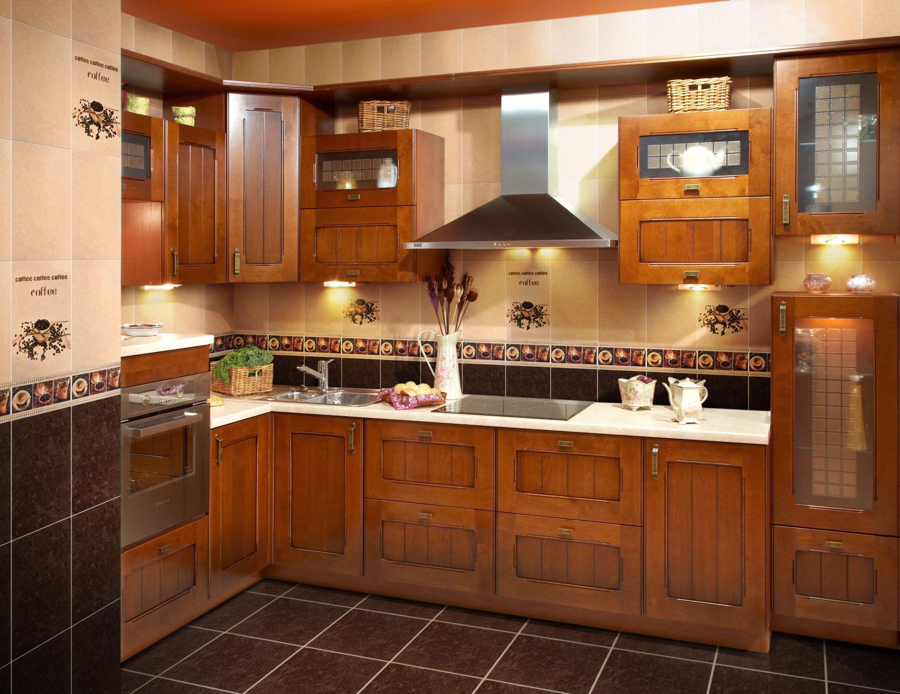 Вариант оформления кухни плиткой