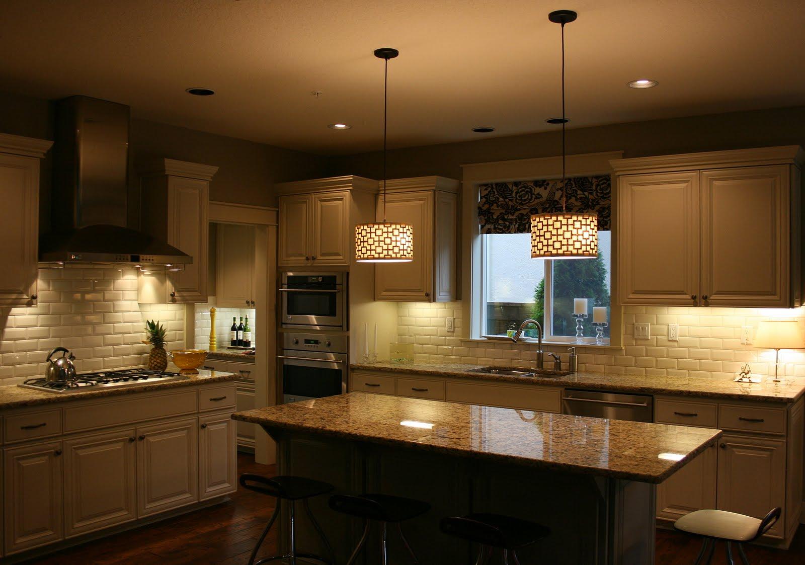 Приглушенное освещение на кухне